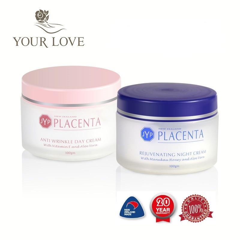 100% NewZealand Sheep Placenta Anti Wrinkle Day Cream+Night Face Cream Sets Reduce Face wrinkles Manuka Honey Rejuvenation Cream