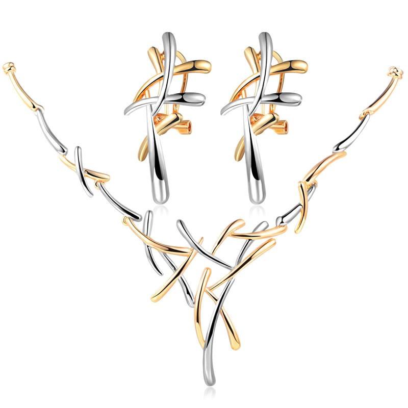 GS Fashion Long Necklaces 2018 Rose Gold Color Necklaces Set