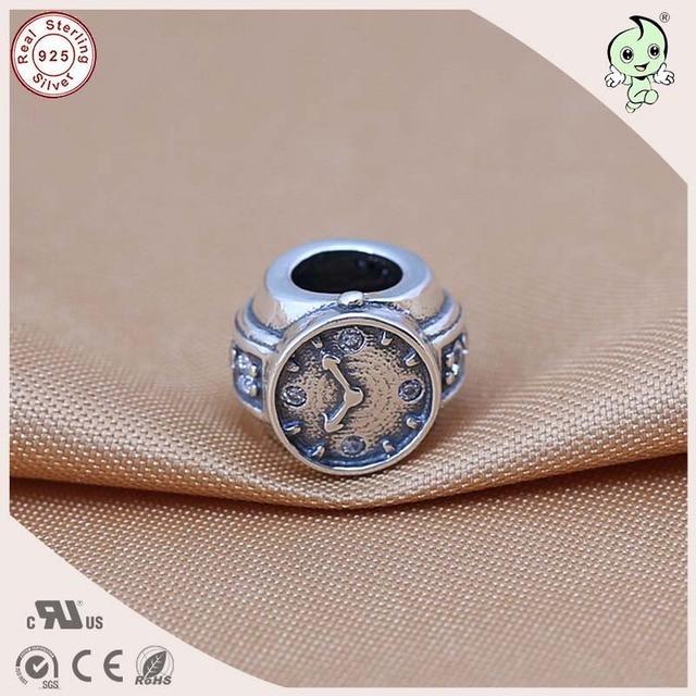De alta Calidad de Estilo Retro de La Vendimia 925 Reloj De Plata Esterlina Encanto Ajustados Famosos de Europa Pulsera