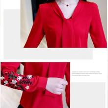 Long sleeve chiffon women blouse shirt fashion woman blouses 2019 office lady shirt women tops blusas feminine blouses 0547 30