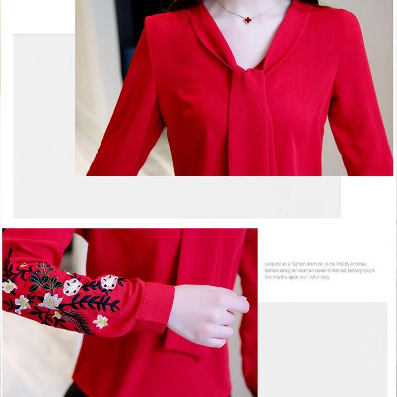 Long sleeve chiffon women blouse shirt fashion woman blouses 2020 office lady shirt women tops blusas feminine blouses 0547 30