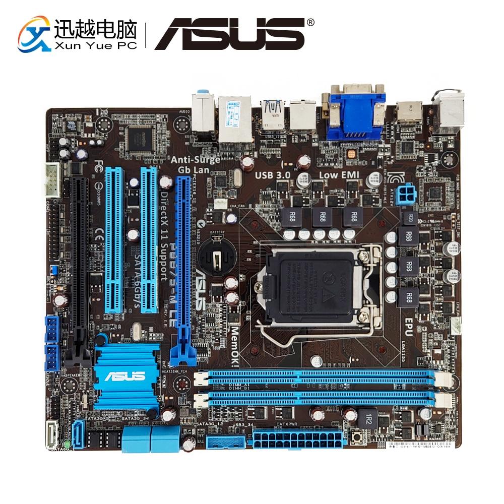 Asus P8B75-M LE Desktop Motherboard B75 Socket LGA 1155 i3 i5 i7 DDR3 16G SATA3 USB3.0 VGA DVI HDMI uATX цена и фото