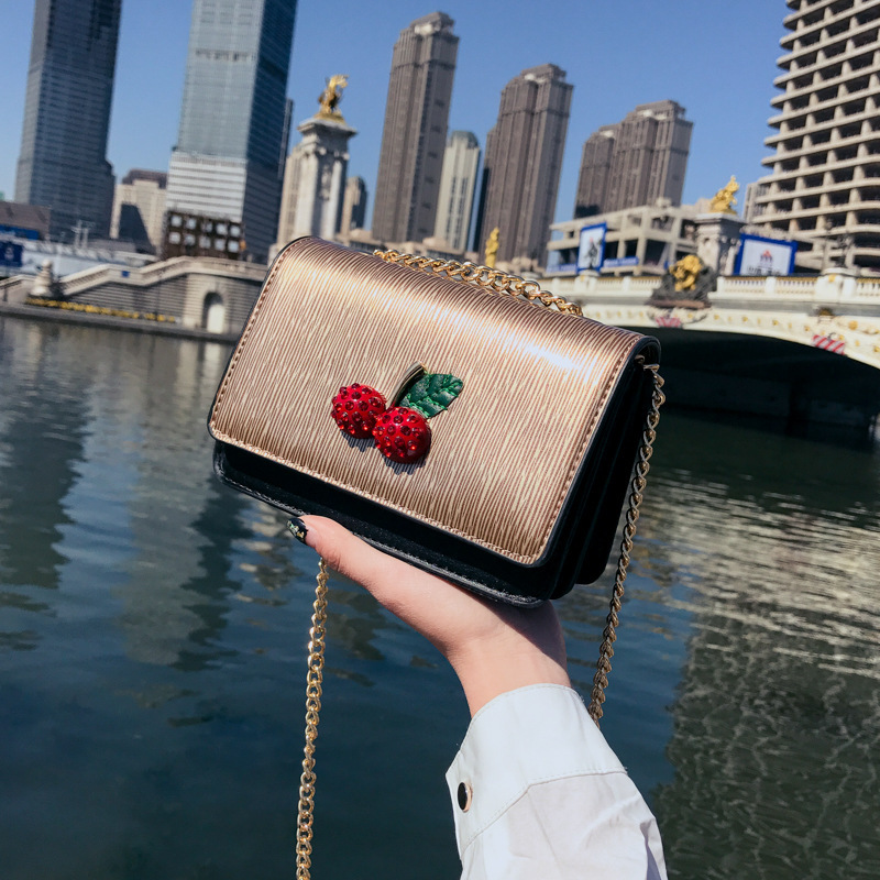 Summer Handbag 2018 New Tide Personality Color Collision Small Square Bags Korean Chain Single Shoulder Bag