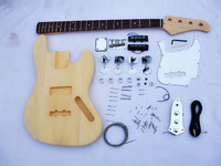Classic handmade Solid Basswood Electric Guitar DIY KIT Set free shipping