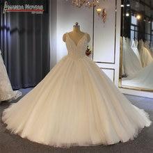 Pieno di perle ordine del cliente abito da sposa abito da sposa