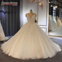 Đầy đủ ngọc trai wedding dress khách hàng đặt hàng bridal dress