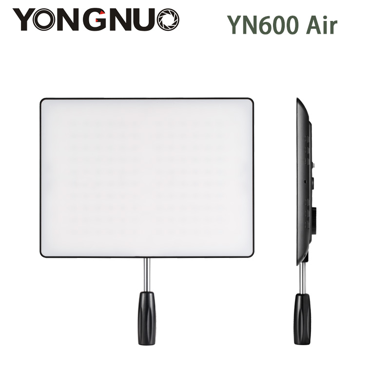YONGNUO <font><b>YN600</b></font> <font><b>Air</b></font> Ultra Thin LED Camera Video Light Panel 5500k and 3200K-5500K Bi-color Photography Studio Lighting image