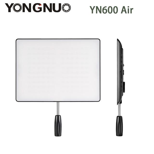 Yongnuo yn600 aire ultra delgado panel de luz led cámara de vídeo 5500 k y 3200 k-5500 k bi-color de iluminación de estudio fotografía