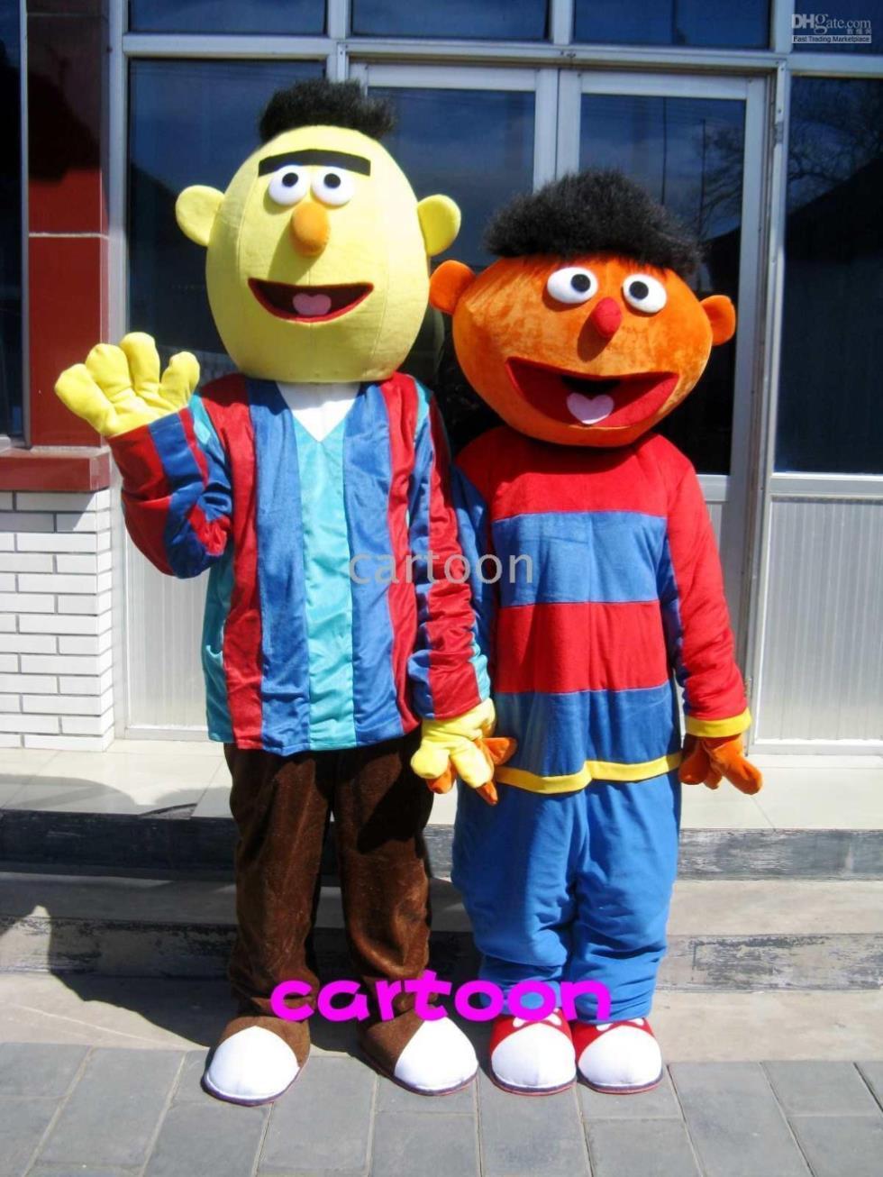 Bert Ernie Maskottchen Kostüm Adult Character Maskottchen Kostüm