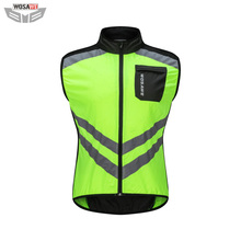 WOSAWE Motorcycles High Visibility Reflective Vest Motocross Off-Road MOTO Protection Gear Sports Running Cycling