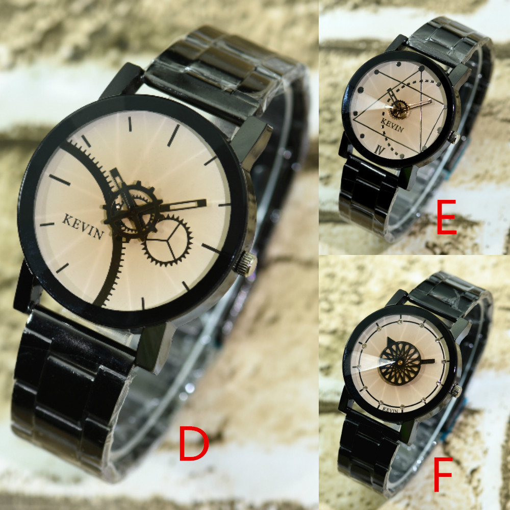100pcs/lot kevin 2068-1 super seller alloy watch wrap quartz couple watch top quality original lover's watch black wristwatch