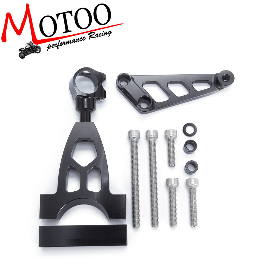 Motoo - For Honda CB400 VTEC 1999-2010 Motorcycles Adjustable Steering Stabilize Damper Bracket Mount Support Kit Accessories for ducati 848 2008 2010 2009 motorcycles adjustable steering stabilize damper bracket mount support kit accessories