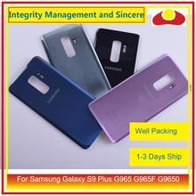 מקורי עבור Samsung Galaxy S9 בתוספת G965 G965F G9650 SM G965F שיכון סוללה דלת אחורי חזרה זכוכית כיסוי מקרה פגז מארז
