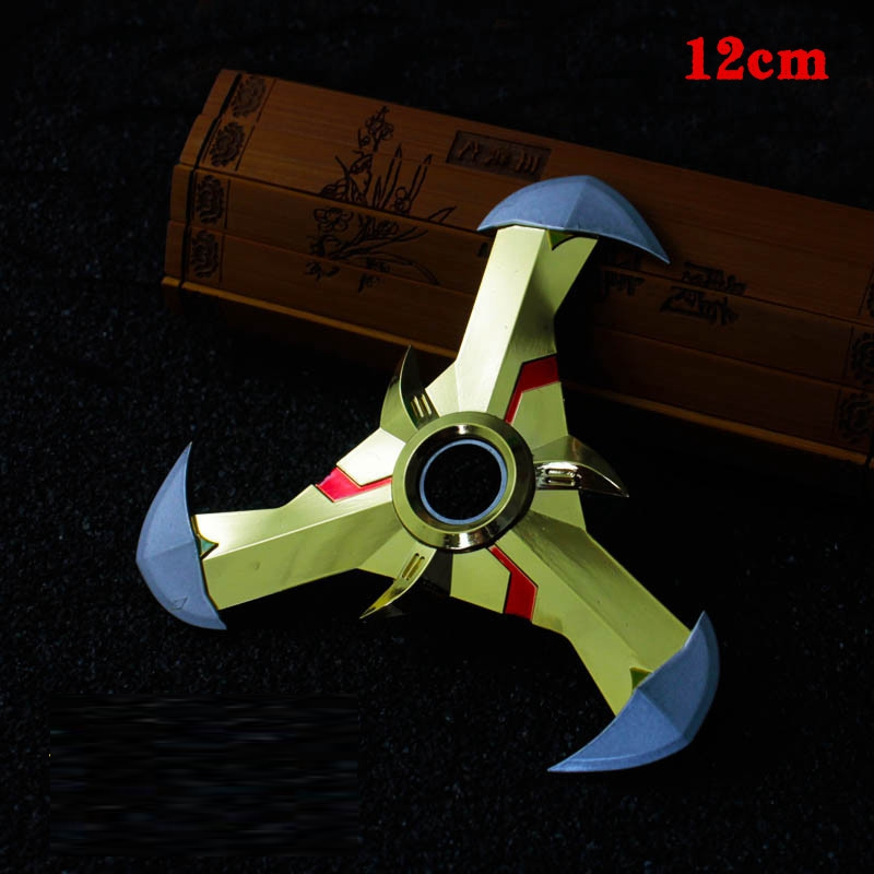 OW Game Genji Darts Alloy Metal Weapon Model Rotatable Darts Cosplay Props For Collection Fidget Spinner Hand Anti Stress KF034