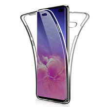 360 Dubbele Siliconen Case Voor Samsung Galaxy S10 Lite S10E E S8 S9 Plus A3 A5 A6 A7 A8 A9 j3 J4 J5 J6 J7 Neo 2018 2017 Opmerking 8 9(China)