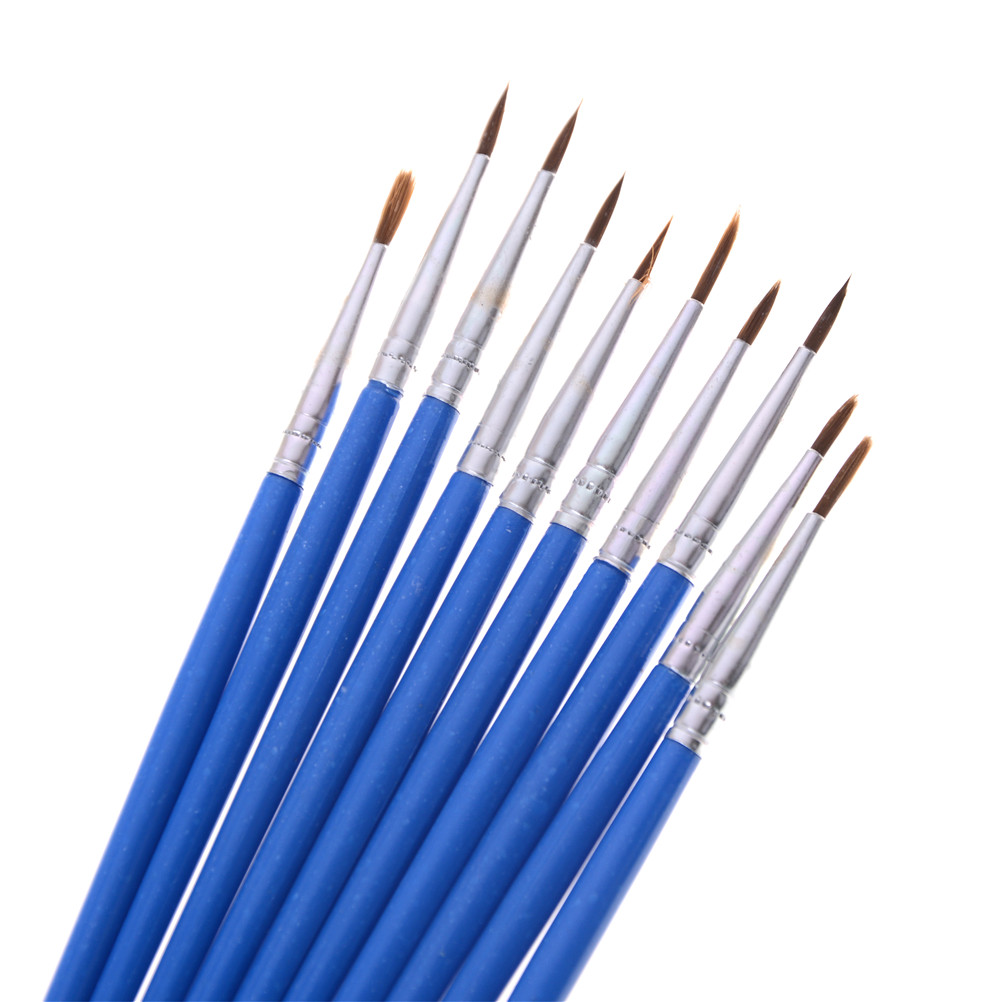 MYPANDA 10pcs Hot New Model Special Point Brush Models Hobby Painting Tools Accessory Hook Line Pen