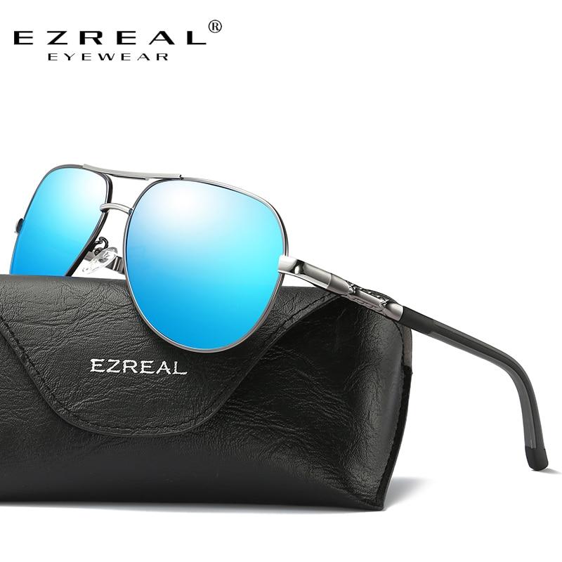 Ezreal unisex retro de aluminio marca Gafas de sol lente polarizada vintage  Eyewear Accesorios Sol Gafas oculos para hombres mujeres a8725 fb9efec39aa4