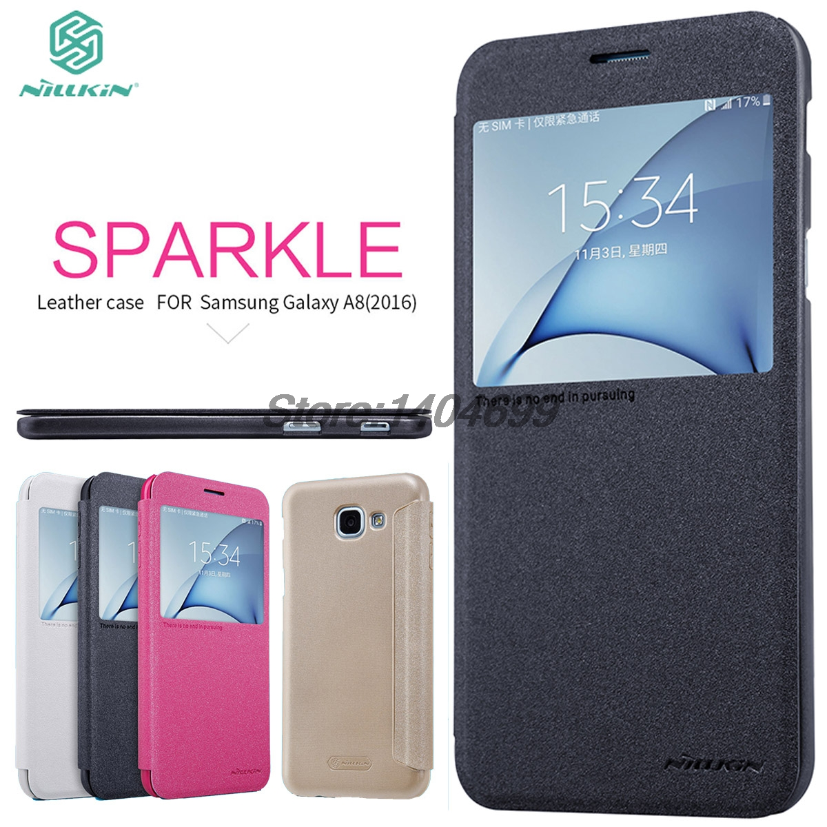 Samsung galaxy a8 2016 pictures official photos - Sfor Samsung Galaxy A8 2016 Flip Case Nillkin Sparkle Series Pu Leather Cover Flip Case For