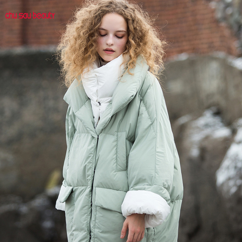2019 winter women's   parkas   thicken turn down jacket zipper women warm overcoats outwear casual plus size female   parka   coat