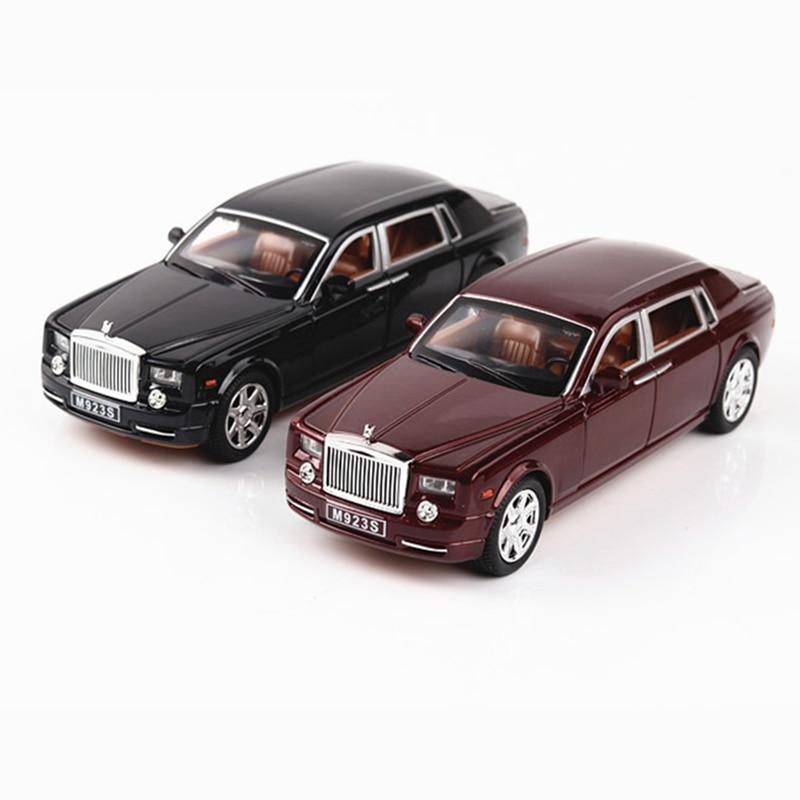 1 24 Diecast Alloy Car Model Rolls Royce Phantom Metal Toy Car Wheels Simulation Sound Light