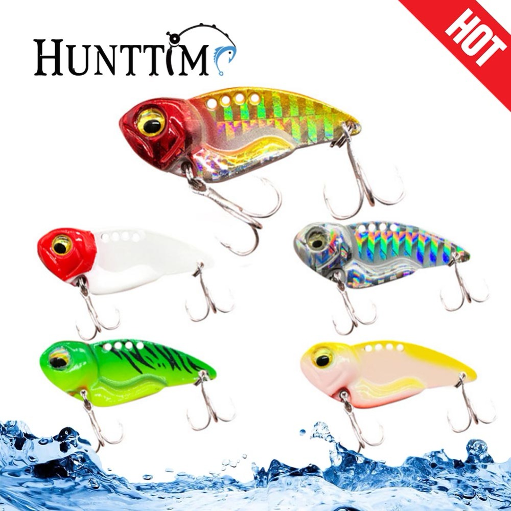 1Pcs Metal VIB Lures 4.5cm Luminous Vibrations Lure Fishing Bait Bass Artificial Hard Baits Cicada lure Long shot 3D Eyes DX30