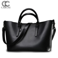 CARCHI Women PU Leather Handbags Large Capacity Women High Quality Casual Shoulder Bags Female PU Leather