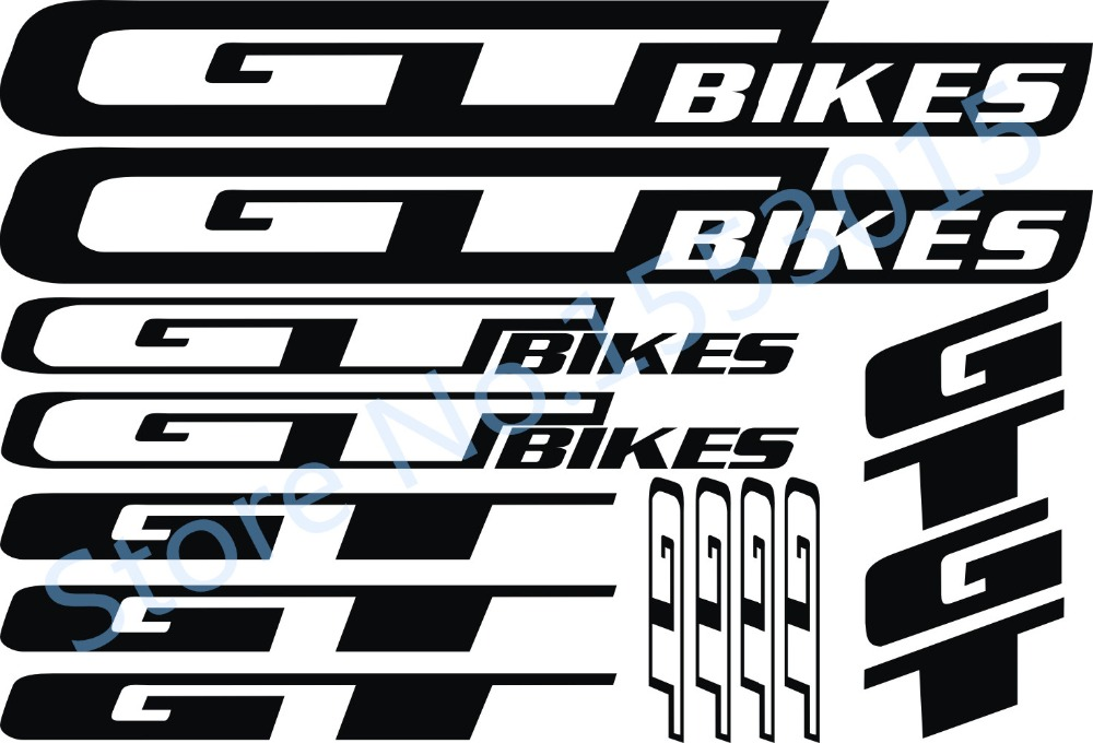 Reflective bike decal sticker Road bike wheel frame   for G&T bikes - Cycling