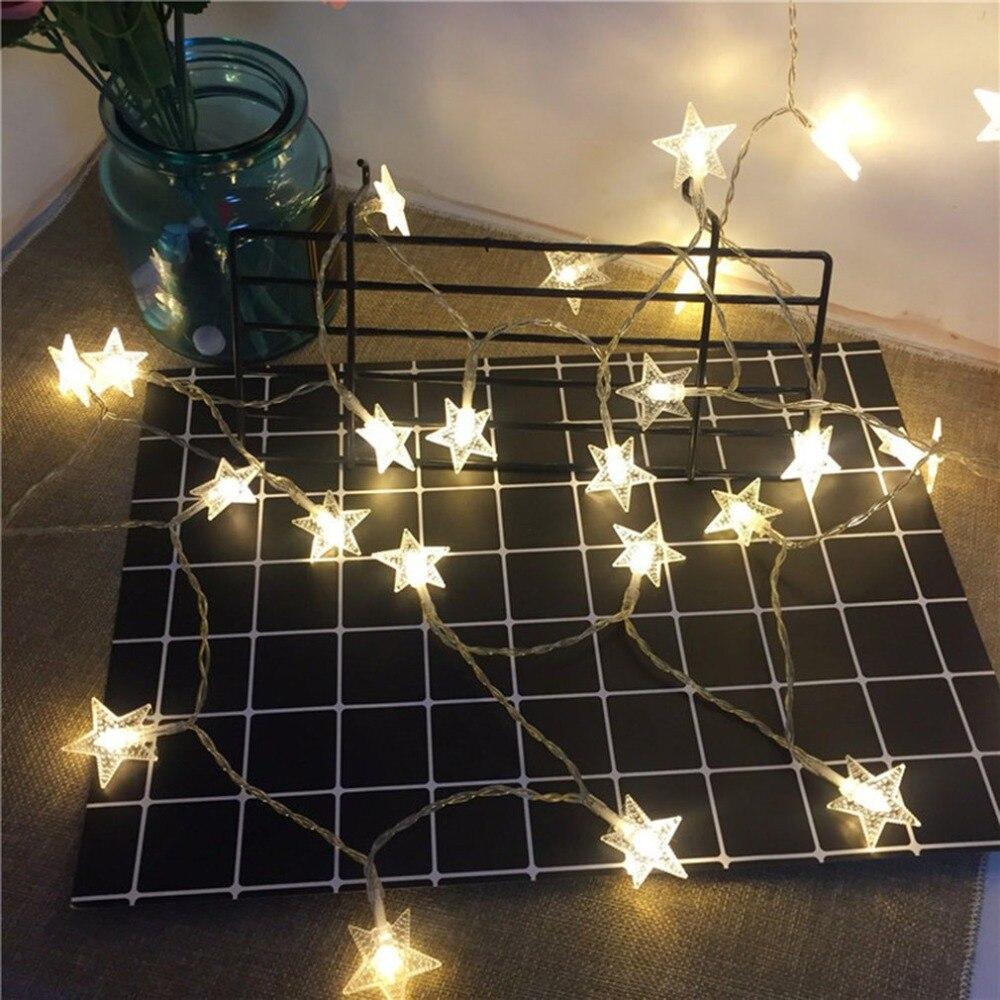 Light string battery light stars string room living room - String lights living room ...