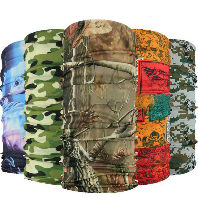 2020 Tactical Military Bandana Elastic Headbands Kerchief Babushka Luxury Breathable Camouflage Bandana Seamless Bandanna Scarf