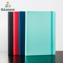 лучшая цена A5 Notebook Simple Fashion Notepad Creative Business Leather Book Student Stationery Diary Office Conference Record Book Glosen