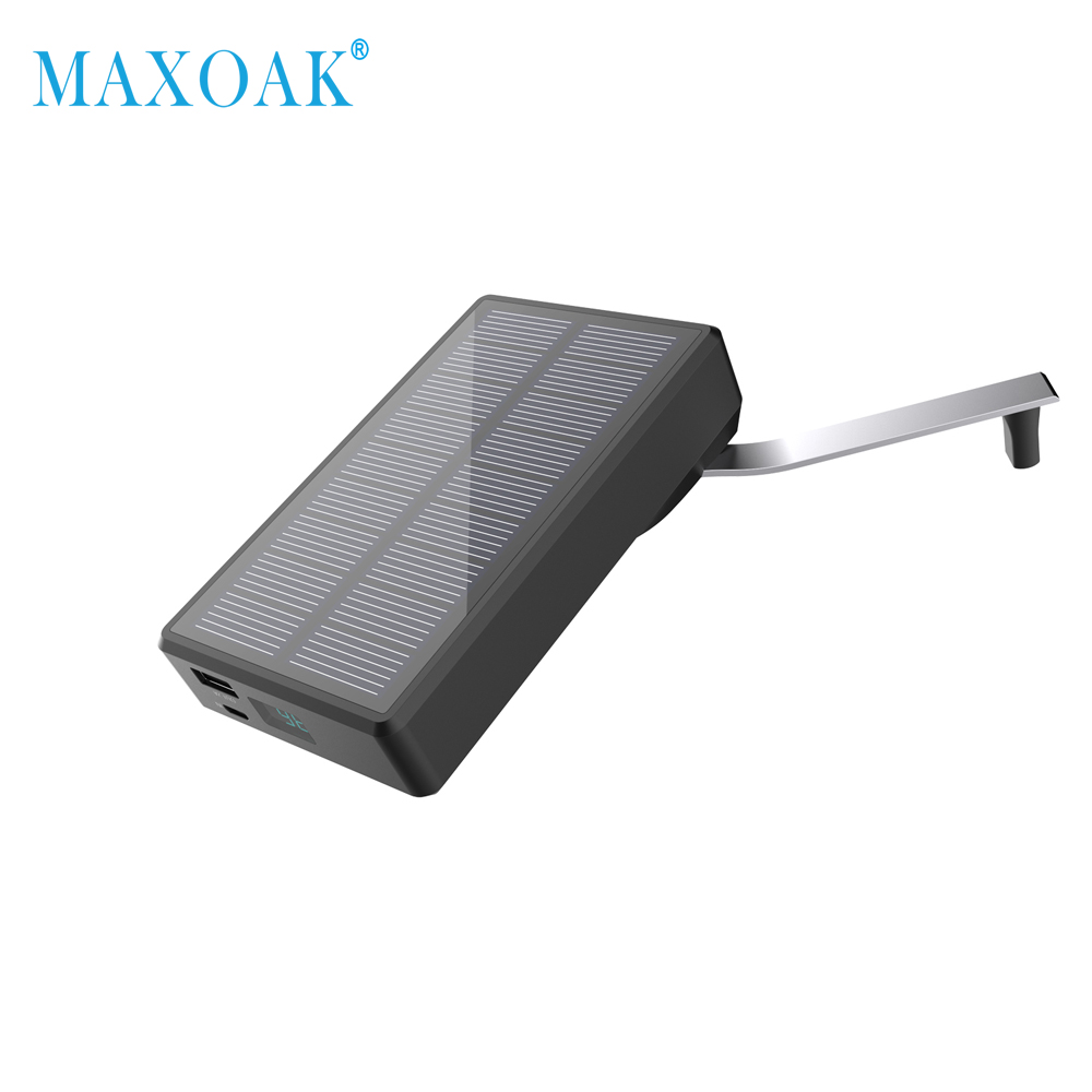 MAXOAK P40 Solar Power Bank External Battery Portable Charger Poverbank For All Smartphone and tablet