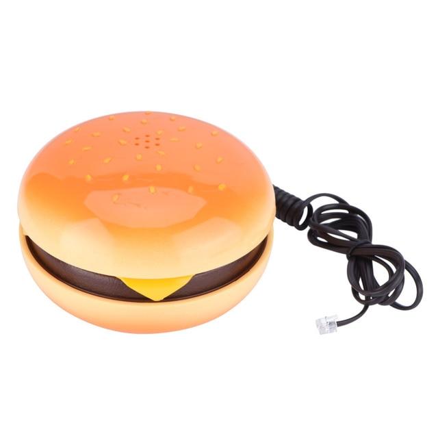 Wx-3019 ノベルティジオラマハンバーガー電話ワイヤー固定電話家の装飾