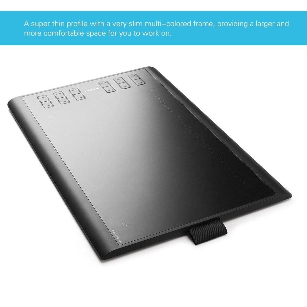 Huion nouveau 1060 PLUS graphique dessin tablette numérique 8192 stylo pression avec lecteur de carte 8G carte SD 5080 LPI 12 clé Express - 6