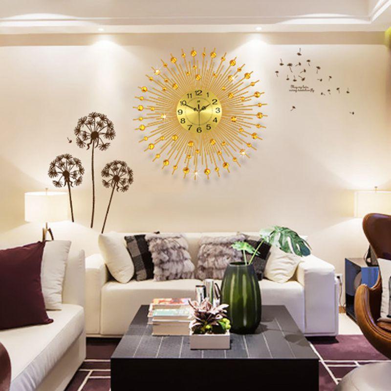3D Große Wanduhr Modern Design Home Decor Wall Uhren Wohnzimmer
