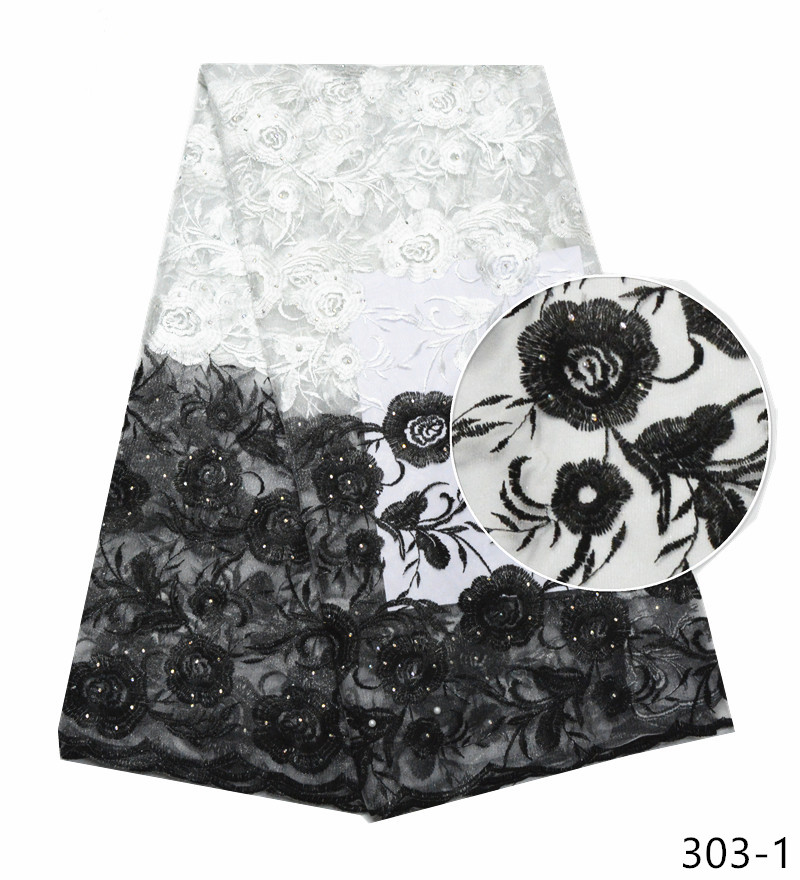 2019 High Quality French lace fabrics Fashion white/black embroidery african net lace fabric with stoens nigerian lace fabric 2019 High Quality French lace fabrics Fashion white/black embroidery african net lace fabric with stoens nigerian lace fabric