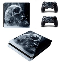 Skull Vinyl Skin PS4 Slim Sticker for Sony Play Station 4 Console and 2 Controllers PS4 Slim Stickers