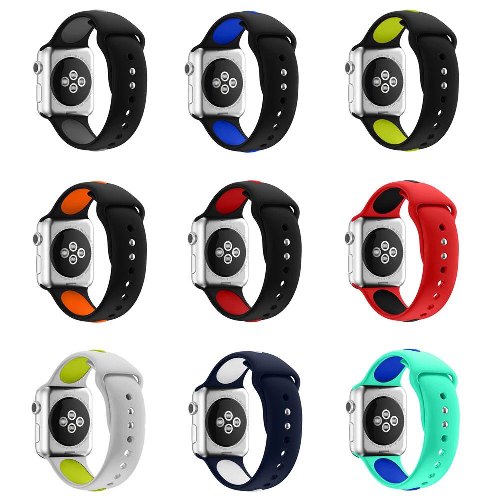 Bandë Sporti Silik 10 Colors me përshtatës lidhës për Shiritin Apple Watch 44mm 40mm Për Seria iWatch 4/3/2/1 Byzylyk Sportiv