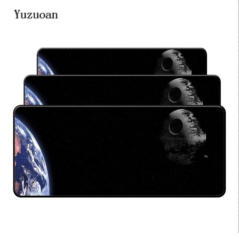 Yuzuoan Large Rubber Overlock Edge Star Wars 90x40mm Desk Mouse Mat Cushion of the Portable mouse pad printing HD Game keyboard