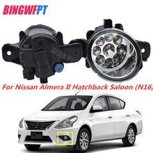 2 pz Fari alogeni di profondità Car styling LED Della LUCE di Nebbia Luci drl Refit Per NISSAN ALMERA 2/II Hatchback (N16) 2001-2006