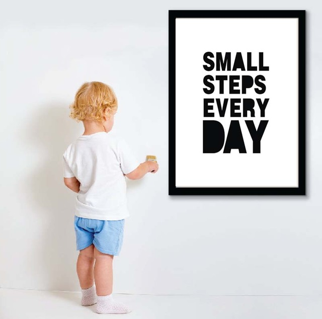 Small Steps Every Day Wall Quotesencouraging Words Poster