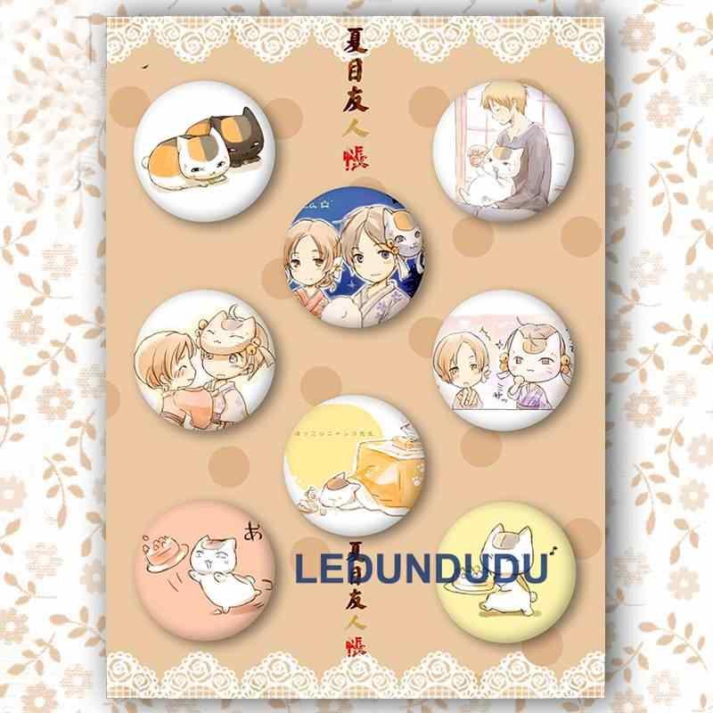 Natsume Значки для косплея милый кот-учитель, брошь с застежкой, Нацумэ книга друзей коллекции знак для одежды рюкзаки