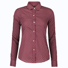 Casual Autumn Women Point Blouses Long Sleeve Shirt Turn Down Collar Fashion Shirts Plus Size Cotton Soft Blusas Women Tops