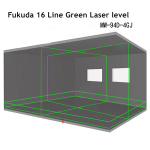 Image 5 - Fukuda Samopoziomująca 16 liniowa poziomica laserowa 4D, nowość, z zielonym światłem, obrotowa o kąt 360 stopni, generująca pionowe i poziome promienie, do użytku na zewnątrz, 2020