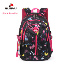 RUIPAI Polyester Kids Backpack Schoolbags Orthopedic Shoulder Bags For Primary School Flower Girl Bags Backpack Fashion