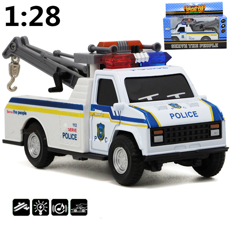 Trailer 1:28 Alloy Model Children Educational Toys, Sound And Light Back To Power High Simulation Model, Free Shipping