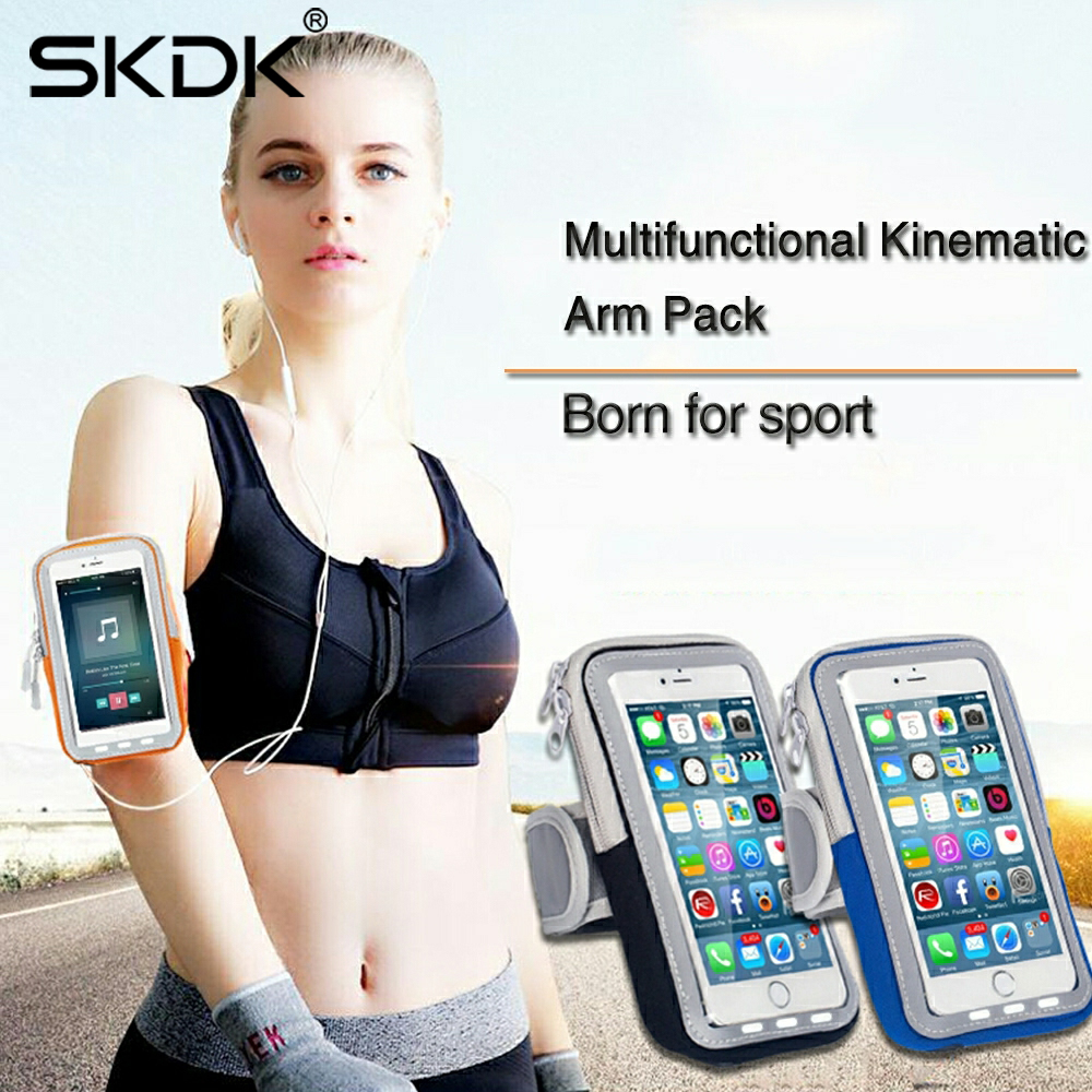 SKDK New Summer 1PC Running Armband Waterproof Cell Phone Holder For Night Jogging Fitness Gym Exercise Sports IPhone Women