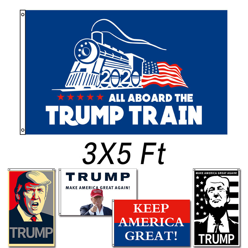 home decor flag <font><b>Trump</b></font> <font><b>2020</b></font> for President Re-Election Keep Make America Great Again USA Flags 3x5 FT Support Banner image