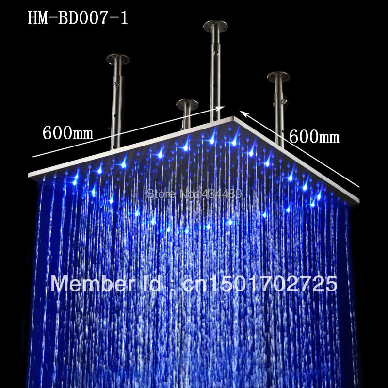 Top Qulity Big Rain Shower Big Size 600*600mm Square 304 S.s Led Light Rain  Shower Head In Shower Heads From Home Improvement On Aliexpress.com |  Alibaba ...