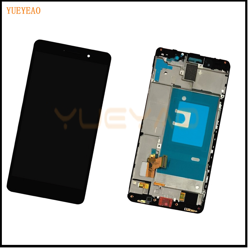YUEYAO LCD With Frame For Huawei Honor 7 Full LCD Display Touch Screen Digitizer Glass Sensor Lens Assembly With Frame for huawei honor 7 lcd display touch screen digitizer with frame lcd display assembly replacement pantalla black white gold tool