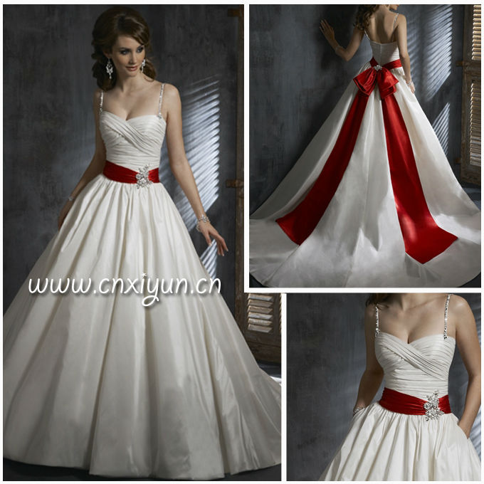 Red And Cream Wedding Dresses Spaghetti Strap Hs161 In From Weddings Events On Aliexpress Alibaba Group